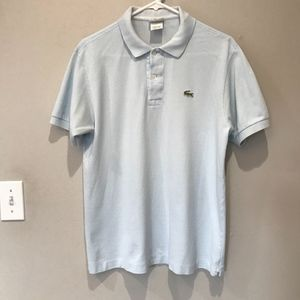 Lacoste Mens Light Blue Polo Shirt.  Size 4